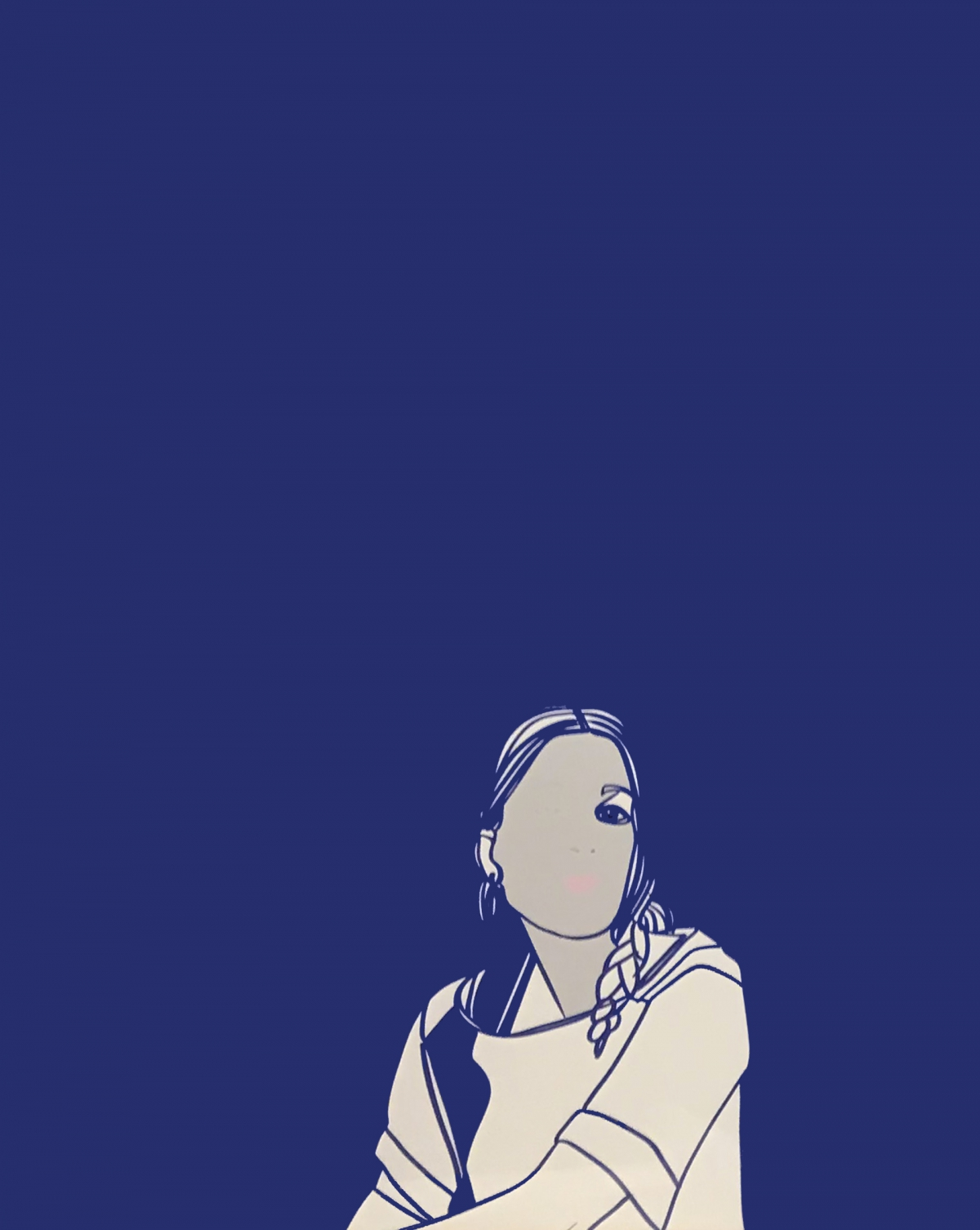 susanna on blue