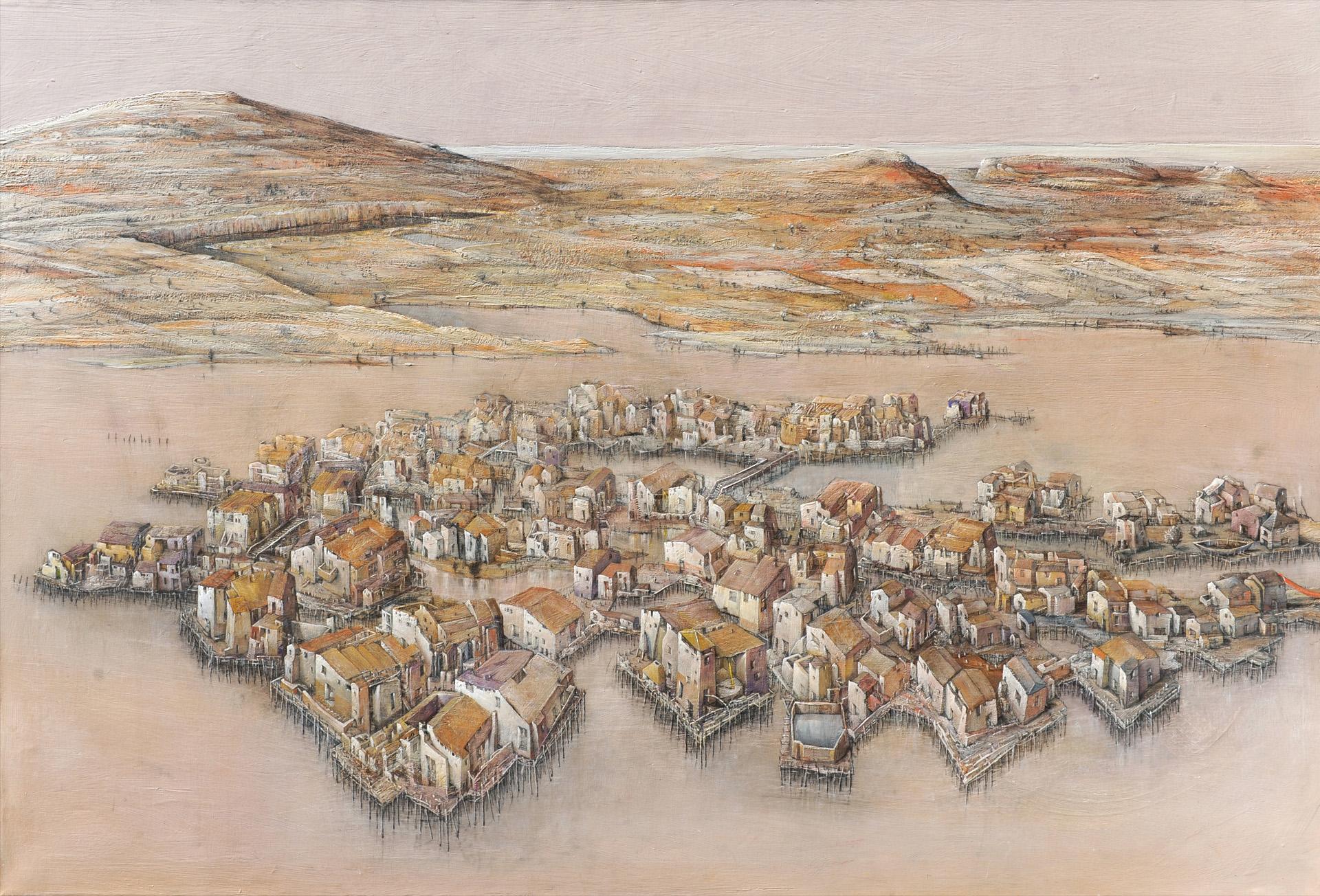 villaggio nella palude